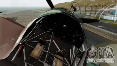 Fokker D.XXI для GTA San Andreas вид справа