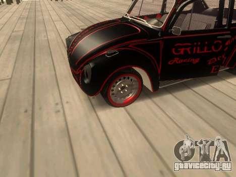 Volkswagen Super Beetle Grillos Racing v1 для GTA San Andreas вид сзади
