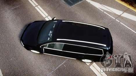 Volkswagen Passat B7 Police 2015 [ELS] unmarked для GTA 4 вид справа