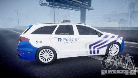Ford Fusion Estate 2014 Belgian Police [ELS] для GTA 4 вид слева