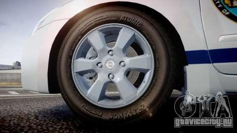 Nissan Altima Hybrid NYPD для GTA 4 вид сзади