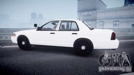 Ford Crown Victoria LCPD Unmarked [ELS] для GTA 4 вид слева