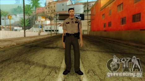 Depurty Alex Shepherd Skin without Flashlight для GTA San Andreas
