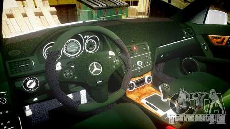 Mercedes-Benz C180 FlyUS для GTA 4 вид сзади