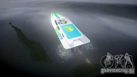 Моторная лодка для GTA 4 вид сзади слева