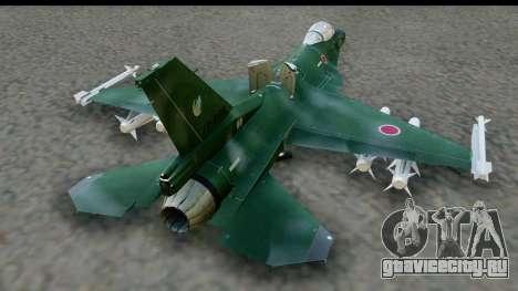 F-2A Zero Dark Green для GTA San Andreas вид справа