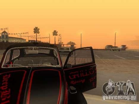 Volkswagen Super Beetle Grillos Racing v1 для GTA San Andreas вид сверху
