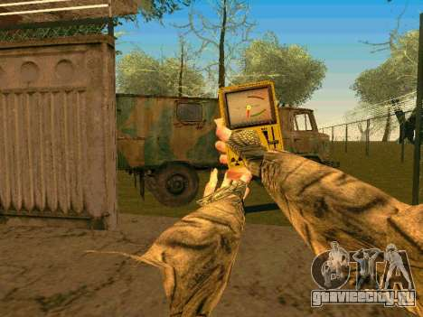 Счётчик Гейгера для GTA San Andreas