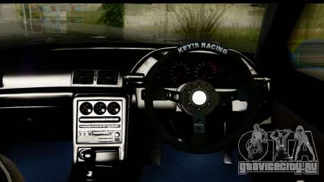 Nissan Skyline R32 для GTA San Andreas вид изнутри