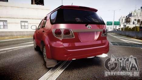 Toyota Hilux SW4 2015 для GTA 4 вид сзади слева