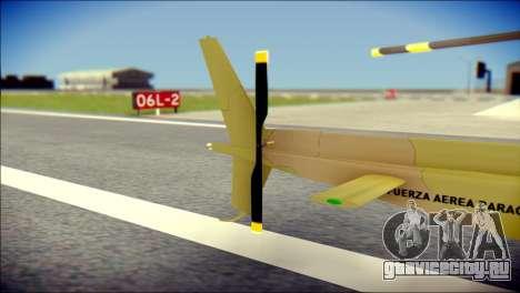 Esquilo 350 Fuerza Aerea Paraguaya для GTA San Andreas вид сзади слева