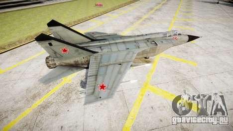 МиГ-25 для GTA 4 вид слева