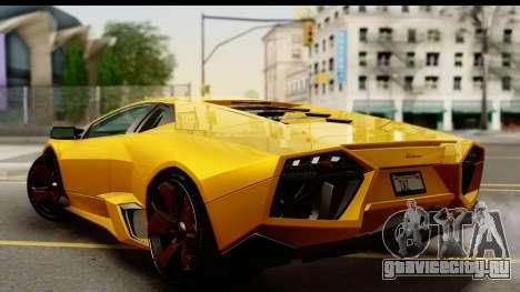 Lamborghini Reventon 2008 для GTA San Andreas вид слева