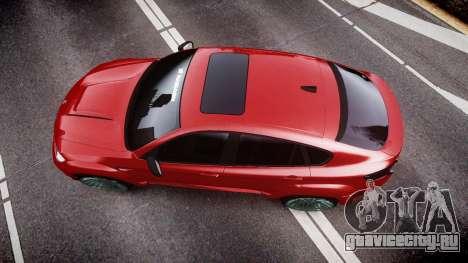 BMW X6 Tycoon EVO M 2011 Hamann для GTA 4 вид справа