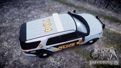 Ford Explorer Police Interceptor [ELS] marked для GTA 4 вид справа