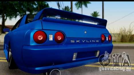 Nissan Skyline R32 для GTA San Andreas вид справа