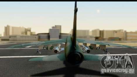 Ling-Temco-Vought A-7 Corsair 2 Belkan Air Force для GTA San Andreas вид сзади