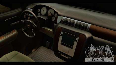 Chevrolet Suburban 2010 FBI для GTA San Andreas вид справа