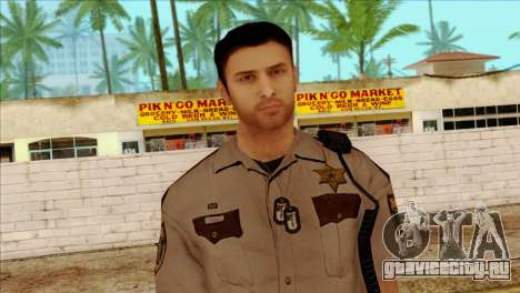 Depurty Alex Shepherd Skin without Flashlight для GTA San Andreas третий скриншот