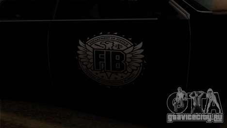 Sultan FIB для GTA San Andreas вид сзади
