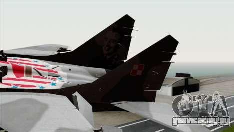 MIG-29A Polish Air Force Kosynierzy для GTA San Andreas вид сзади слева