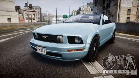 Ford Mustang Convertible Mk.V 2008 для GTA 4