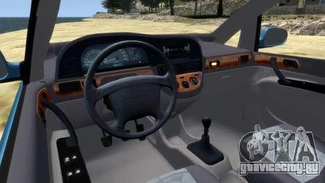 Daewoo Tacuma (Rezzo) CDX 2001 для GTA 4 вид изнутри