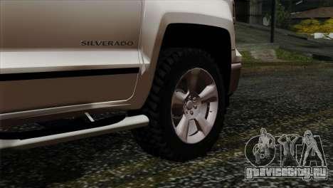 Chevrolet Silverado 2014 LTZ для GTA San Andreas вид сзади слева