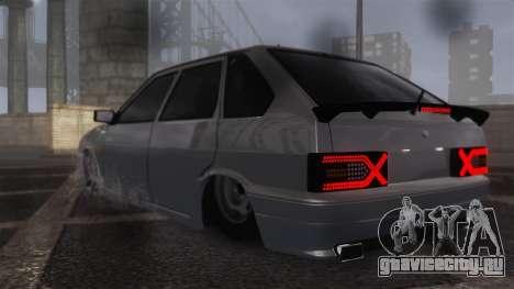 ВАЗ 2114 для GTA 4 вид сзади слева