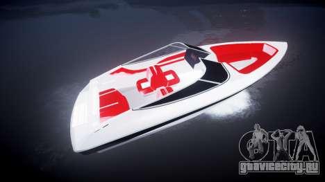 Скоростной катер для GTA 4 вид слева