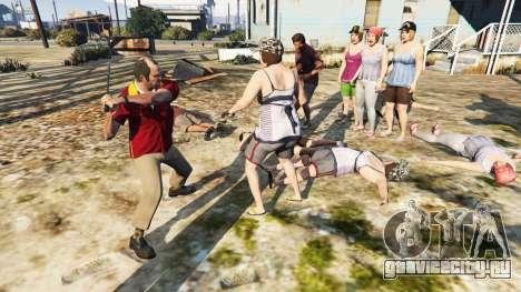 Враждебные педы для GTA 5 третий скриншот