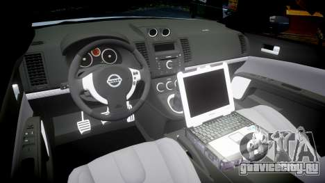 Nissan Altima Hybrid NYPD для GTA 4 вид изнутри