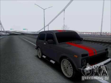 Lada Niva для GTA San Andreas вид сзади