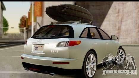 Infiniti FX 45 2007 для GTA San Andreas вид слева