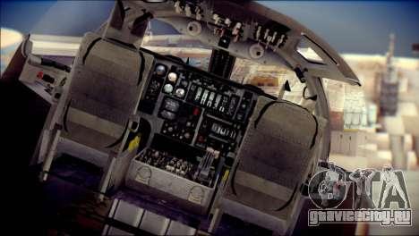 B-1B Lancer Camo Texture для GTA San Andreas вид сзади