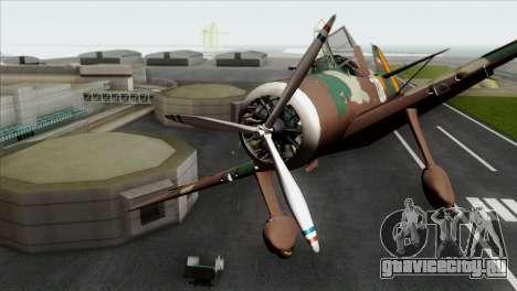 Fokker D.XXI для GTA San Andreas вид сзади