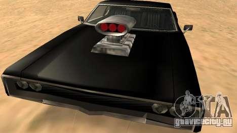 Sabre Charger для GTA San Andreas вид сверху