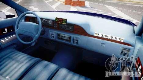 Chevrolet Caprice 1993 LCPD WoH Auxiliary [ELS] для GTA 4 вид сзади