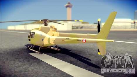 Esquilo 350 Fuerza Aerea Paraguaya для GTA San Andreas вид слева