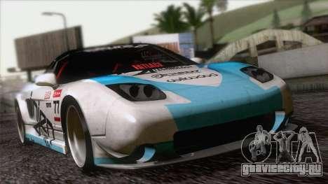Acura NSX Miku Ghoul Itasha для GTA San Andreas вид изнутри