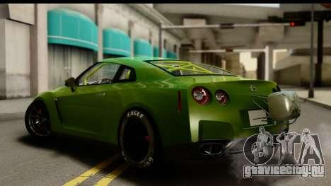 Nissan GT-R Dragster для GTA San Andreas вид слева