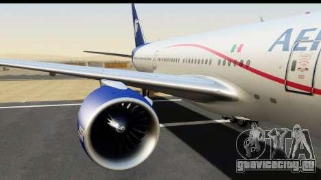 Boeing 777-200ER AeroMexico для GTA San Andreas вид сзади