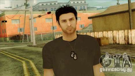 Young Alex Shepherd Skin without Flashlight для GTA San Andreas третий скриншот
