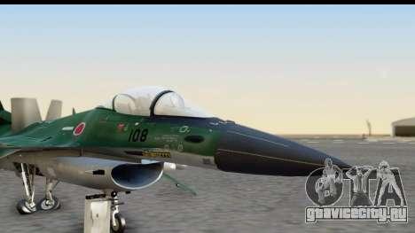 F-2A Zero Dark Green для GTA San Andreas вид сзади слева