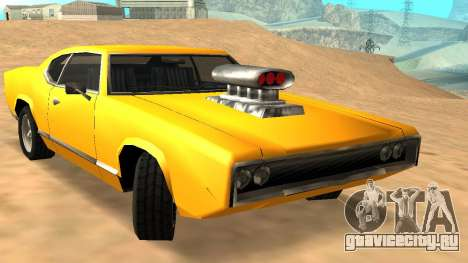 Sabre Charger для GTA San Andreas салон
