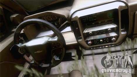 Chevrolet Silverado 2014 Work для GTA San Andreas вид сзади слева