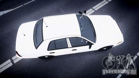 Ford Crown Victoria LCPD Unmarked [ELS] для GTA 4 вид справа