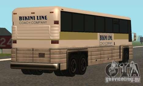 Coach Fixed для GTA San Andreas вид справа