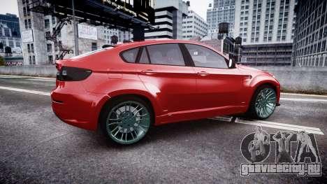 BMW X6 Tycoon EVO M 2011 Hamann для GTA 4 вид слева