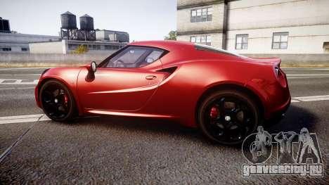 Alfa Romeo 4C 2014 для GTA 4 вид слева
